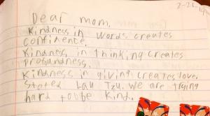 Third grade Kai.